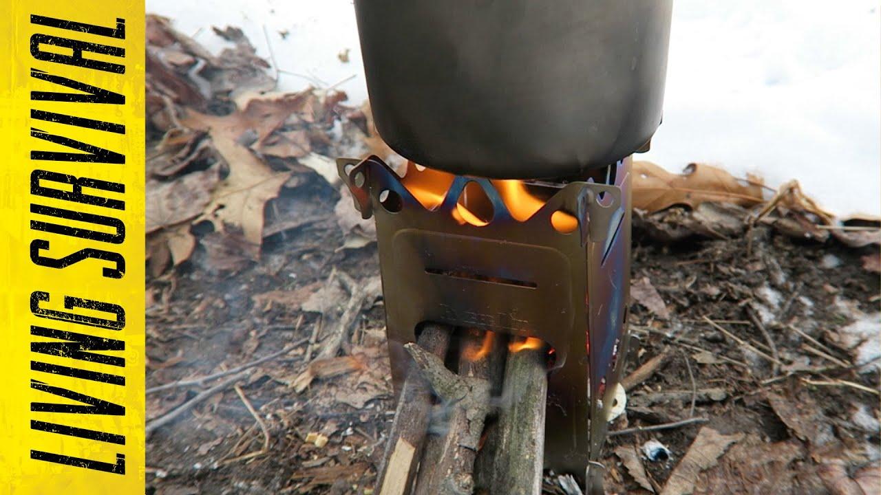 EmberLit FireAnt Camping Stove Titanium  TITANIUM FIREANT STOVE