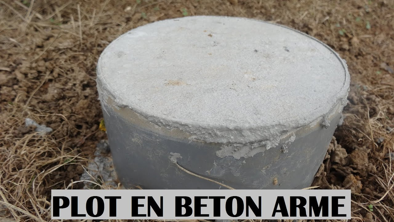 Faire un plot en beton arm b ton r aliser la b tonni re fondation terr - Plot ciment pour poteau ...