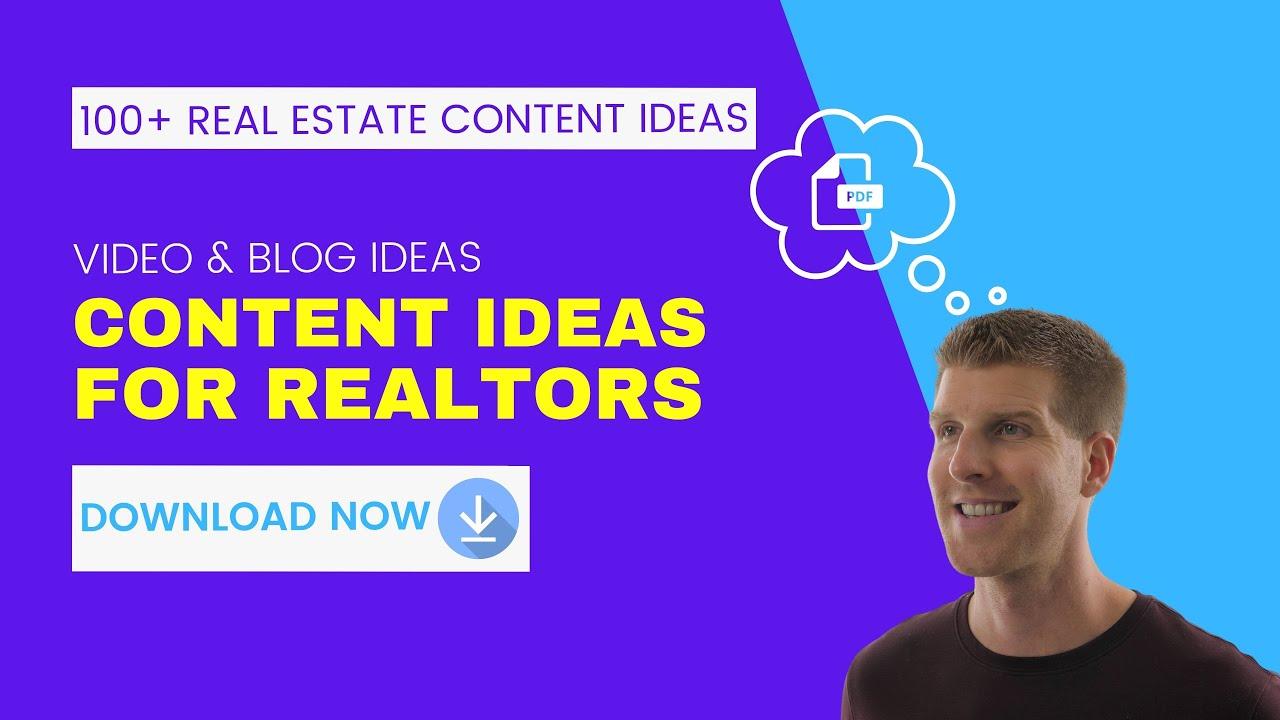 Real Estate Content Ideas for Realtors | 100+ Ideas