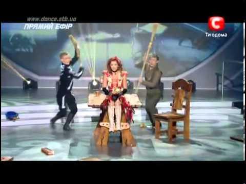 Танцуют все 5 - 9 Прямой эфир - Аня, Ильдар и Данила 21.12.2012