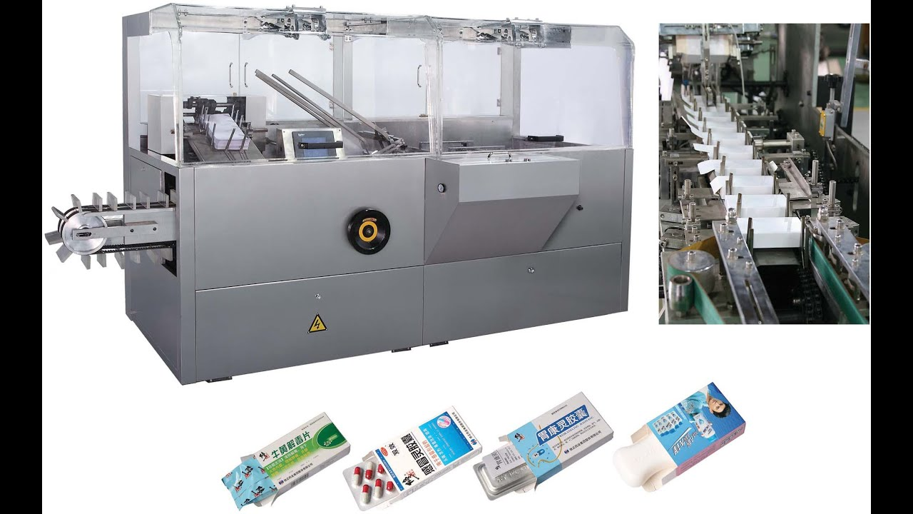 pharmaceutical cartoning machine for drug box packaging system with ...