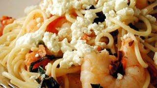 Mediterranean Diet Recipes - Shrimp and Pasta Recipe