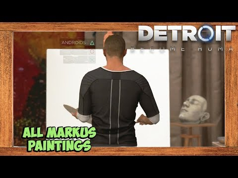 Detroit Become Human All Markus Paintings (The Painter Chapter)