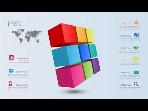 Illustrator CC Tutorial | 3D Graphic Design | Infographic Design 06