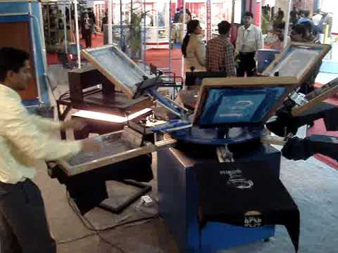 T shirt printing machine youtube for Machine for printing on t shirts