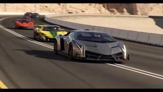 Battle Lamborghini Veneno  vs Hennessey Venom vs  Bugatti Veyron