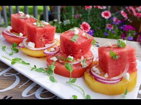 Summertime Fresh Watermelon & Tomato Salad