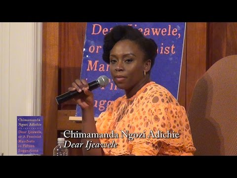"Chimamanda Ngozi Adichie,  ""Dear Ijeawele"" (with Audie Cornish)"