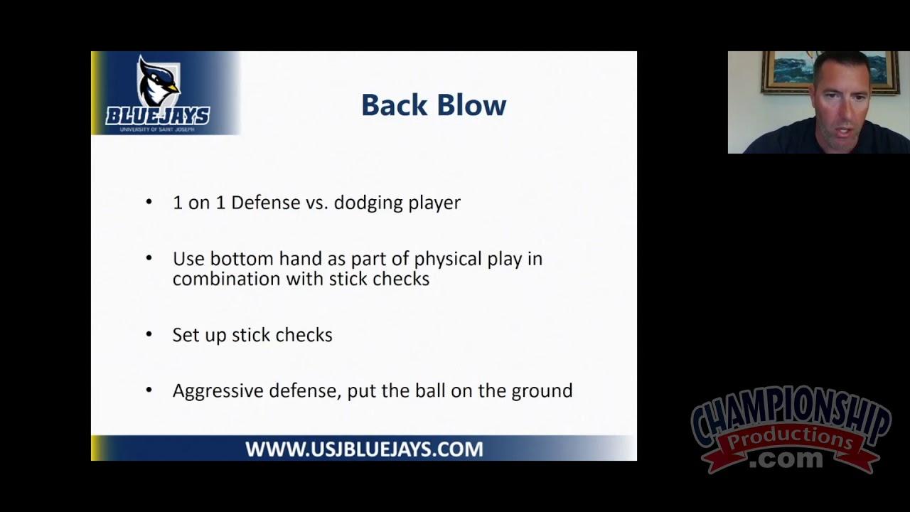 "Andrew Fink Breaks Down Defending the ""Back Blow"" for Lacrosse!"