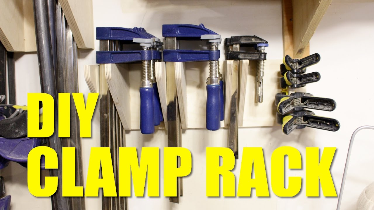Simple DIY Clamp Rack - YouTube