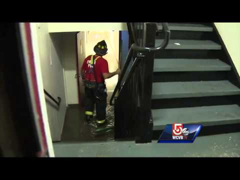 200 evacuate when apartment building deliberately flooded