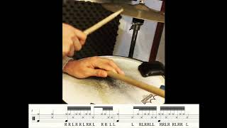 The Drum Etudes #1 -  Cross stick chill 32nd note groove