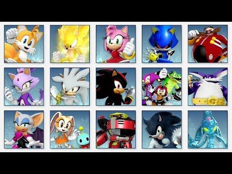Super Smash Bros Ultimate All Sonic The Hedgehog Spirit Battles