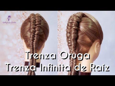 Como Hacer una Trenza Oruga / Trenza Infinita de Raiz by Belleza sin Limites