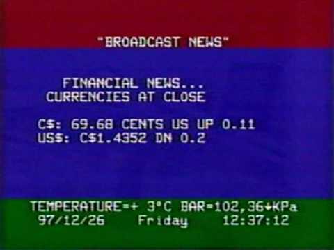 Broadcast News clip December 26 1997