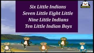 Ten Little Indians | Nursery Rhymes | Karaoke Songs By TingooKids