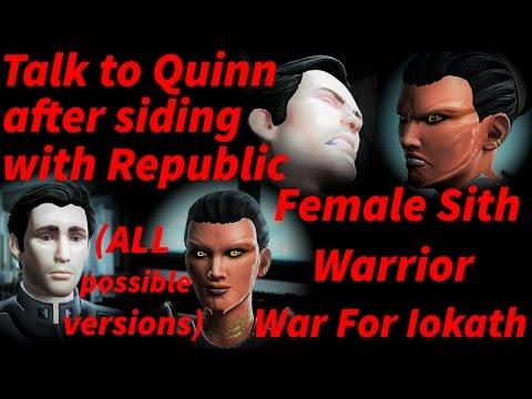 Swtor The War For Iokath Malavai Quinn Romance Reunion