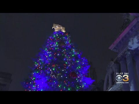 Holiday Tree Lighting At Philadelphia's City Hall