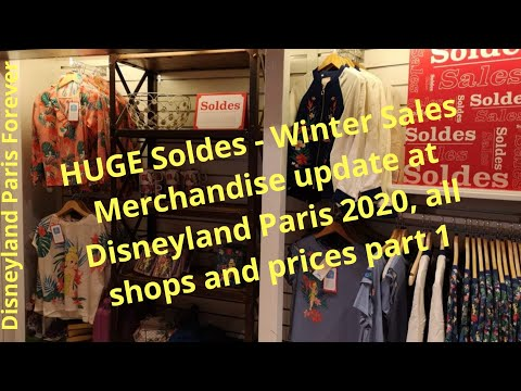 Soldes - Winter Sales At Disneyland Paris 2020, All Shops And Prices Part 1