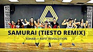 """Samurai"" (Tiesto Remix) || R3hab || Dance Fitness Choreography || REFIT® Revolution"