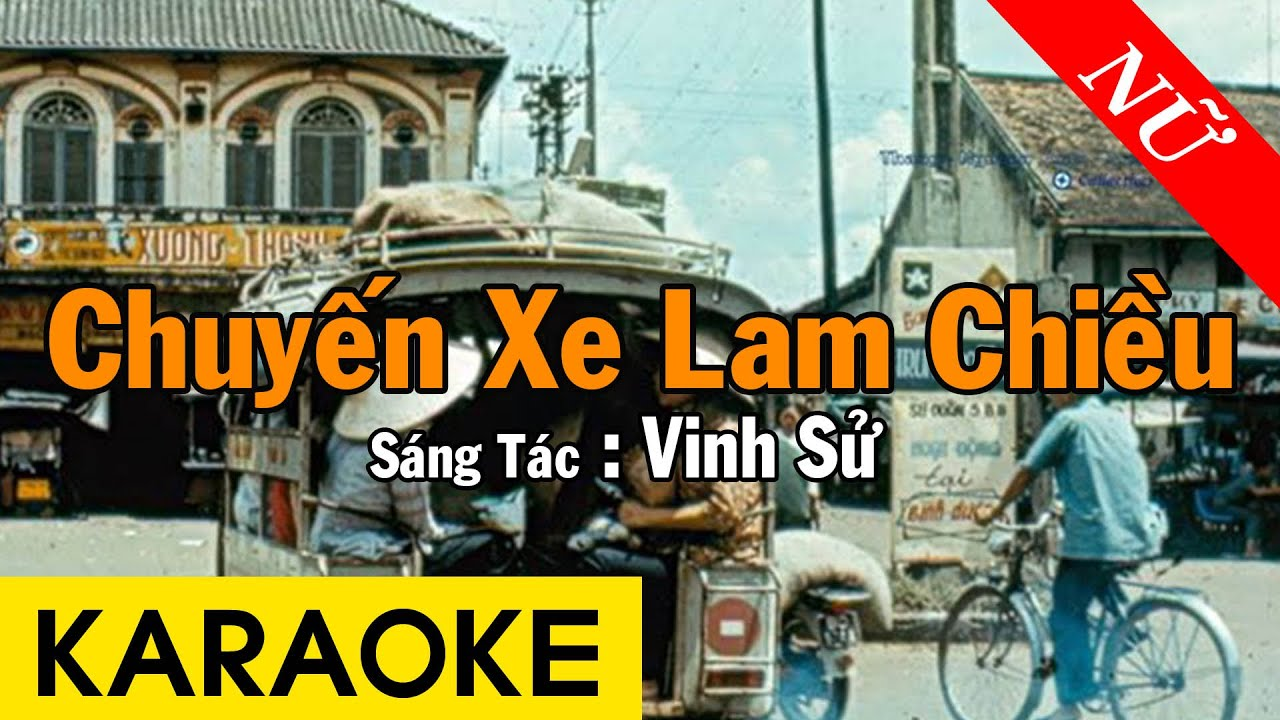 Karaoke Chuyến Xe Lam Chiều Tone Nữ Nhạc Sống - Beat Chuẩn