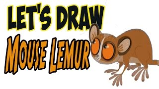 Drawing Mouse Lemur from Wild Kratts! (Basic shapes and lines)