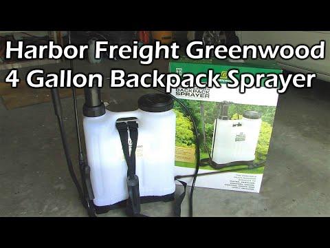Harbor Freight Greenwood 4 Gallon Backpack Sprayer - Item 61368