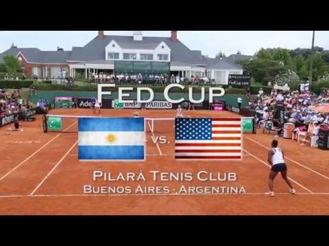 Argentina vs EEUU Fed Cup 2015 en Pilará