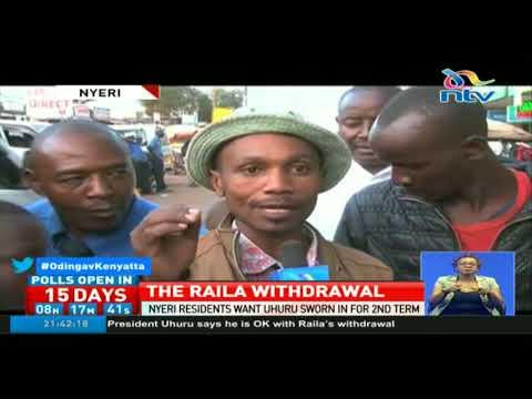 Nyeri residents want President Uhuru Kenyatta sworn in for 2nd term