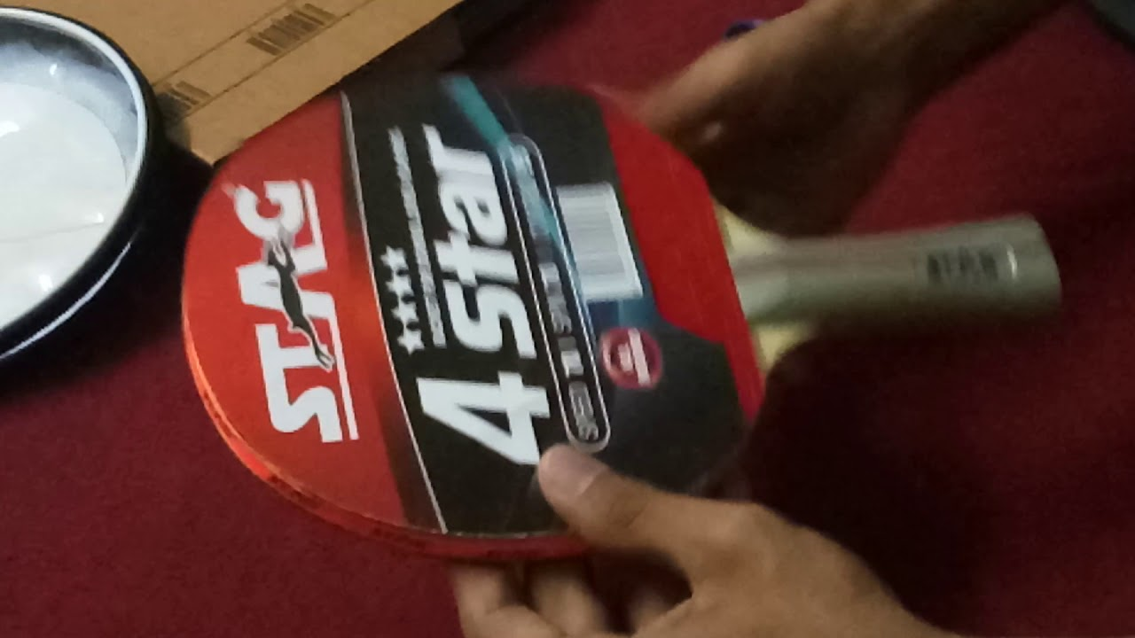 e13dcec5d3 Stag four star table tennis bat unboxing - YouTube