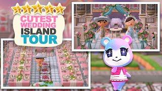 The CUTEST WEDDING Island w/ Resort - 5 Star Island Tour in Animal Crossing New Horizons