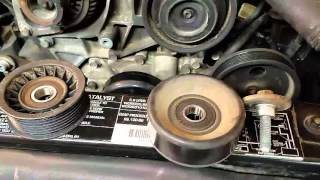 1998 Jeep Grand Cherokee 5.9 Idler Pulley and Block Pulley Removal and Replacement