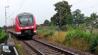 Neusäß mit Fugger-Express ET 440, VT 642 Doppel auf Leerfahrt, (IC)