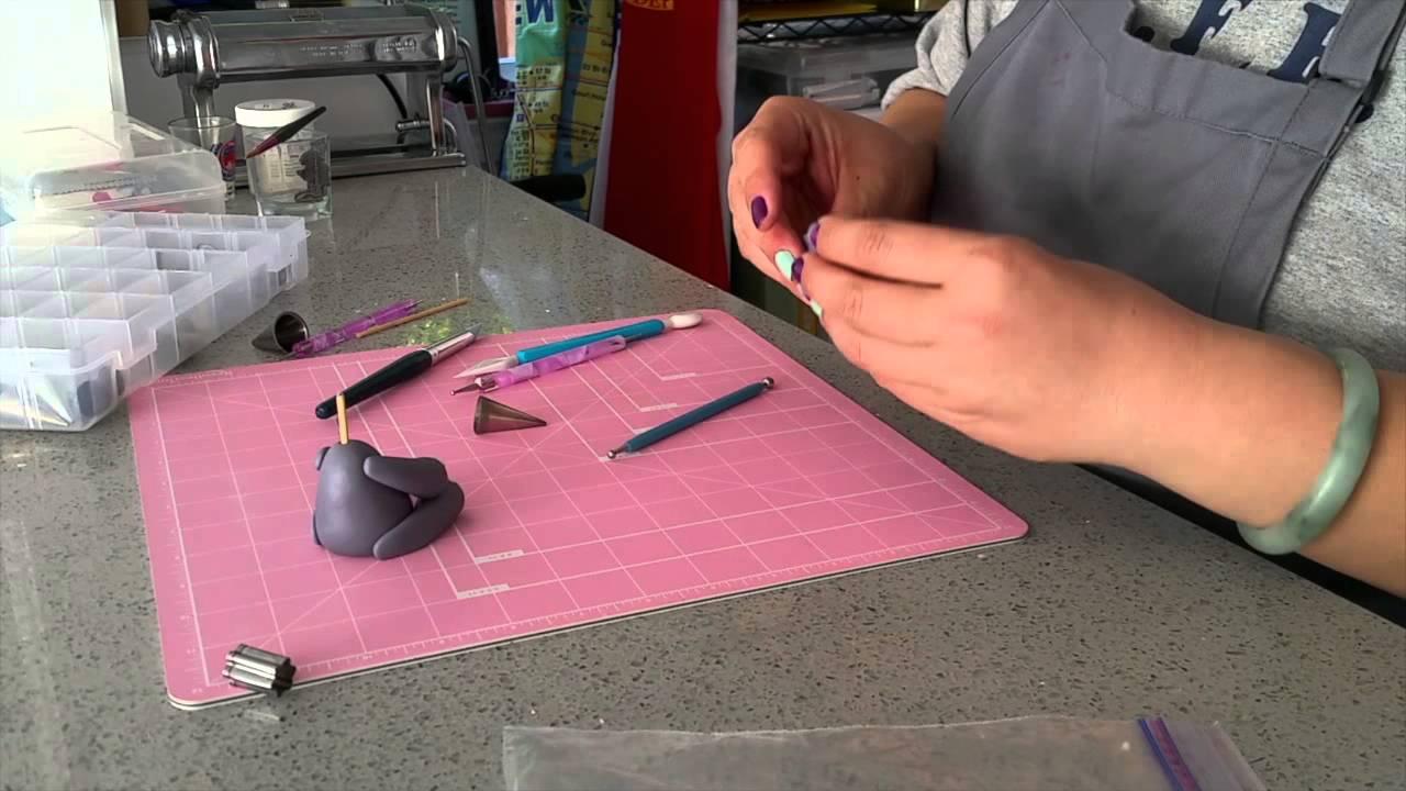how to make fondant figures on yutube