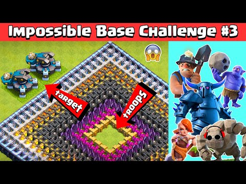 Impossible Base Challenge #3 with SCATTERSHOT | Clash of Clans - COC Reality