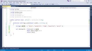LinQ - Basic Syntax https://www.tutorialspoint.com/videotutorials/i...