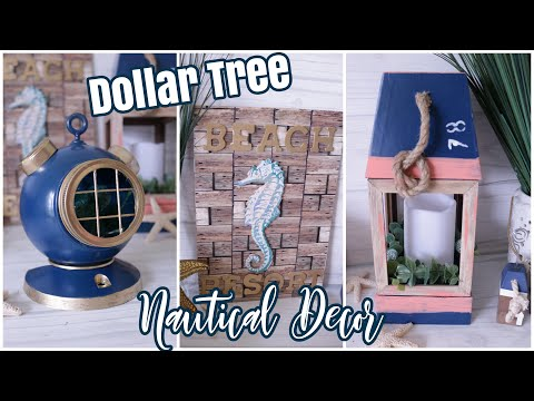 Dollar Tree DIY Nautical Decor | Beach Decor