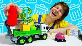 У Мусоровоза сломался кран! Ремонт машинки и игры для мальчиков. Новое видео шоу онлайн