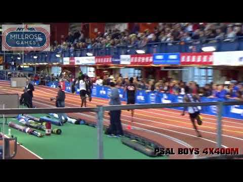 111th Millrose Games  PSAL Boys 4x400