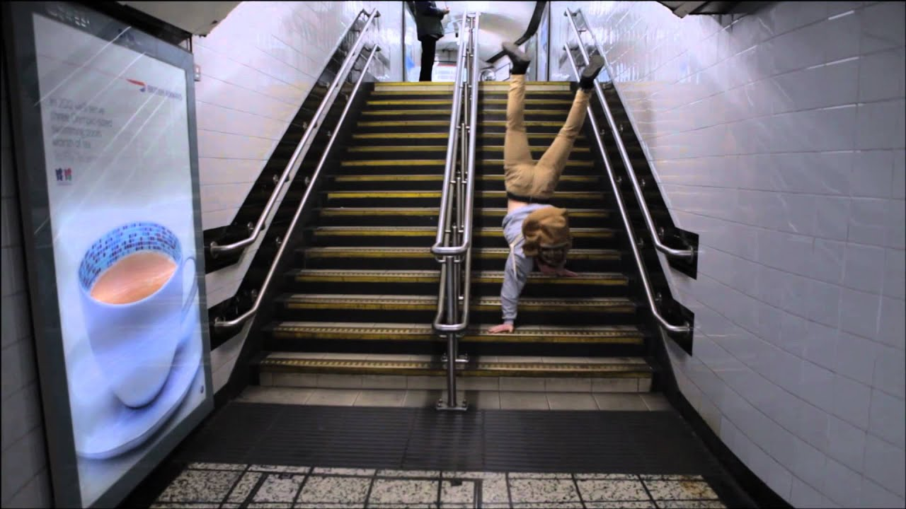 Catching The London Underground In A Handstand Youtube