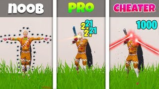 NOOB vs PRO vs CHEATER