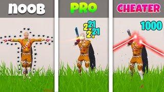 NOOB vs PRO vs CHEATER