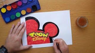 How to draw a TOON Disney logo