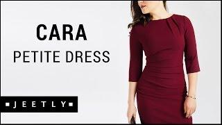 Petite Burgundy dress - Cara Burgundy tailored dress by Jeetly