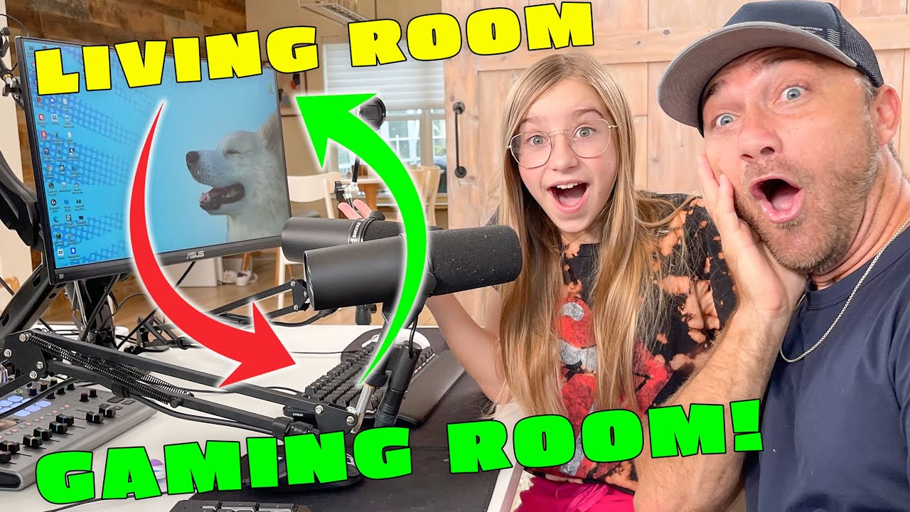 We TRANSFORM Our LIVING ROOM Into The ULTIMATE GAMING SETUP!! *Sopo Squad Gaming Room Makeover!!*