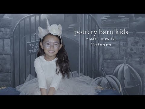 Fun Halloween Makeup Tutorial - Unicorn Tutu Costume for Pottery Barn Kids