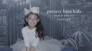 Fun Halloween Makeup Tutorial - Unicorn Tutu Costume for Pottery Barn Kids