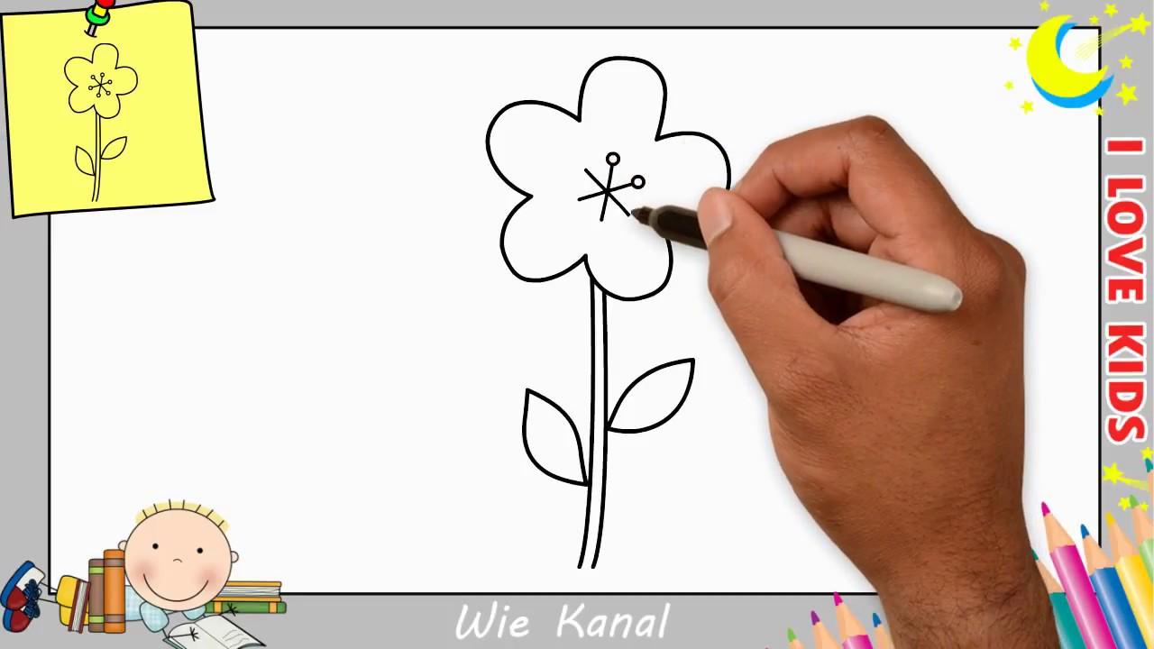 Blume Zeichnen Lernen Einfach Schritt Fur Schritt Fur Anfanger