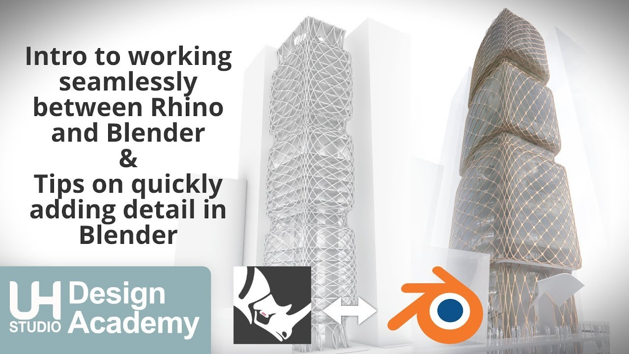 Intro to working seamlessly between Rhino and Blender & Tips on quickly  adding detail in Blender