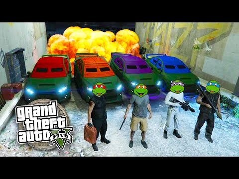 GTA 5 Online NINJA TURTLES Special!!! Teenage Mutant Ninja T